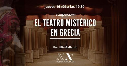 Conferencia: El teatro Mistérico en Grecia